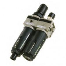 "Filter pressure regulator  Lubricator G1/4"" 20µ ,0-12"